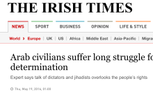 Screen capture of title of article from The Irish Times