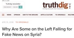 Why aer Some on the Left Falling for Fake News on Syria?