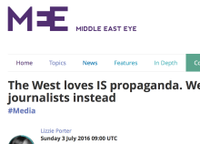 Screen capture of article title from Middle East Eye
